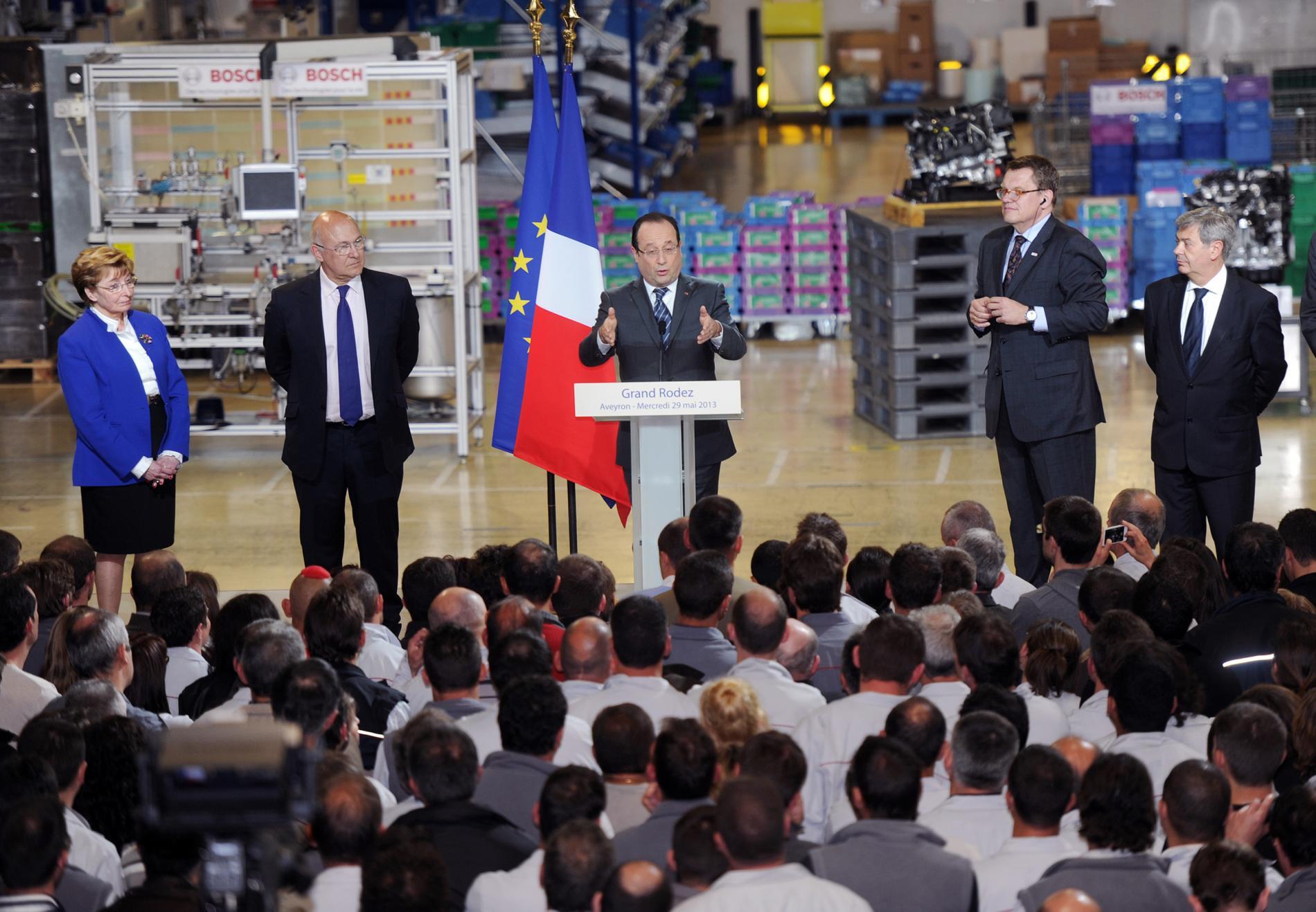 François Hollande en déplacement à Rodez le 29 mai 2013