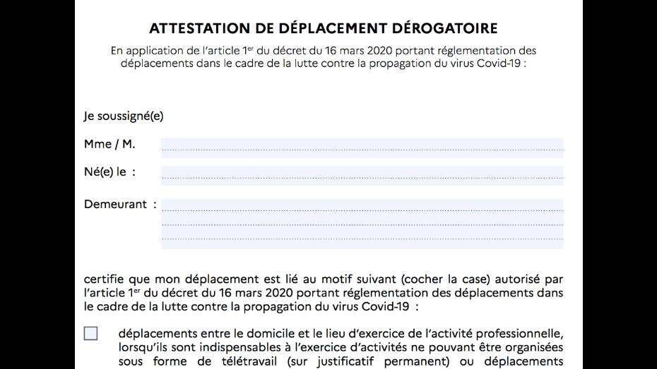 Confinement Telechargez L Attestation De Deplacement Derogatoire Obligatoire Pour Sortir Cnews