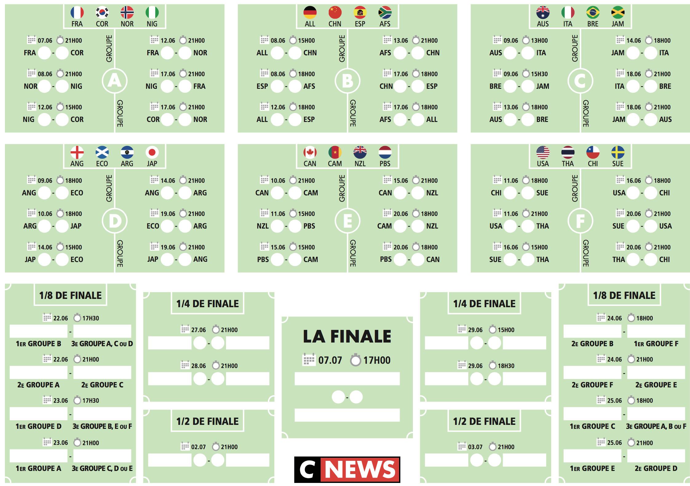 Telechargez Le Calendrier De La Coupe Du Monde Feminine De