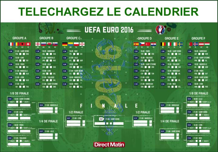Calendrier Des Match Euro.Telechargez Le Calendrier De L Euro 2016 De Football En Pdf