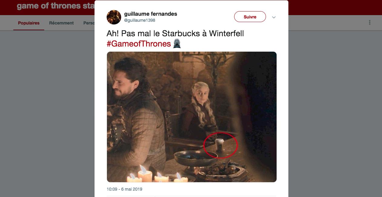 96b31d55588 Un café Starbucks apparaît dans Game of Thrones, HBO reconnaît son ...