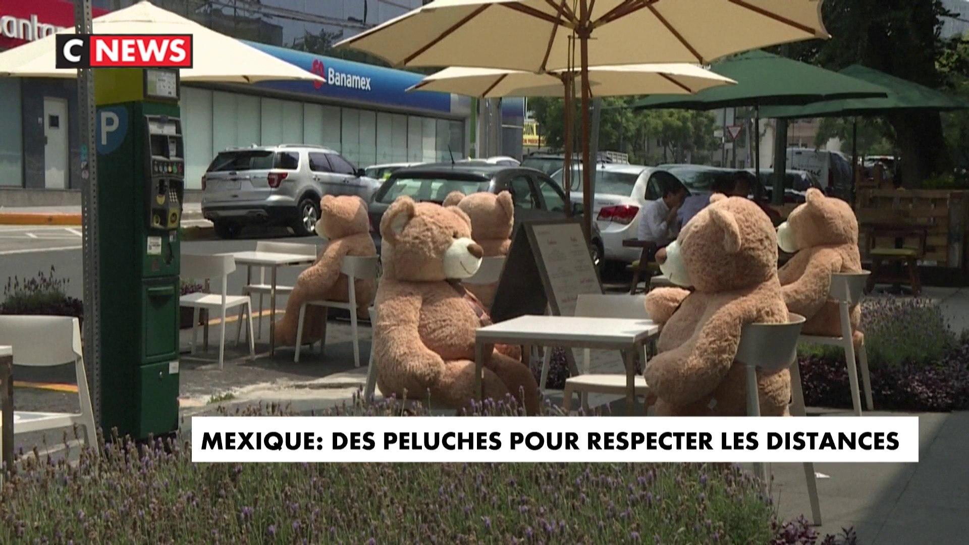 Mexique : maintenir la distance... grâce à des ours en peluche