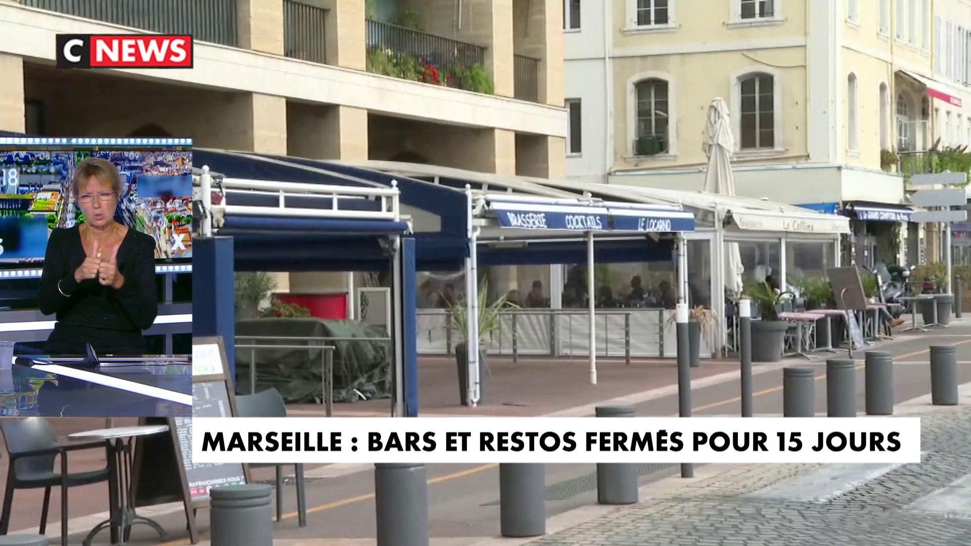 Marseille : des professionnels manifestent contre la fermeture des bars et des restaurants
