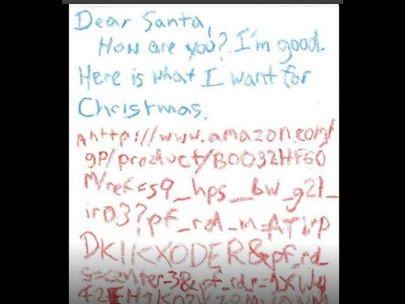 Site Lettre Au Pere Noel.Dans Sa Lettre Au Pere Noel Un Enfant Envoie Un Lien