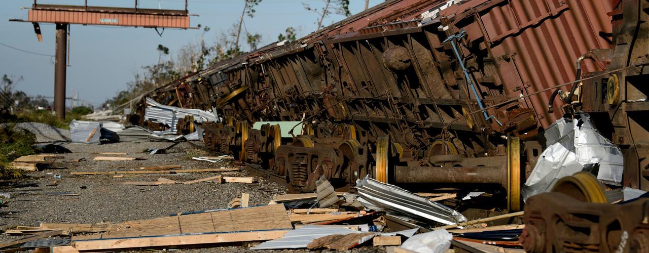 Les constructions n'ont pas tenu face à des vents de 250 km/h - JOE RAEDLE / GETTY IMAGES NORTH AMERICA / AFP