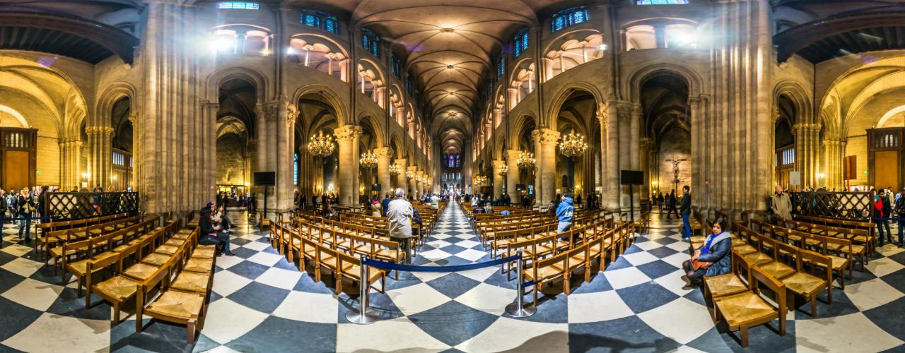 Notre-Dame de Paris 360° (613197892) © Zeljko Soletic Dubrovnik/360cities.net via Getty Images