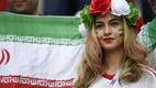 Une supportrice iranienne lors du premier match du pays en Russie, contre le Maroc.