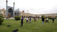 La place Naghch-e Djahan d'Isfahan, l'un des lieux les plus visité d'Iran