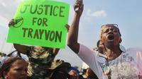 Manifestation de protestation aux Etats-Unis contre le meurtre de Trayvon Martin