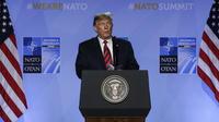 Donald Trump lors du sommet de l'Otan à Bruxelles en 2018.