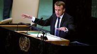 Emmanuel Macron lors de son discours en septembre 2018