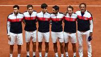L'équipe de France de Coupe Davis lors de la finale perdue contre la Croatie en novembre 2018