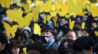 Les papillons jaunes représentent le symbole des victimes d'esclavage sexuel au Japon.