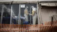 Un centre de traitement d'Ebola qui avait été attaqué en mars 2019 par des hommes armés