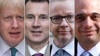 Boris Johnson, Jeremy Hunt, Michael Gove et Sajid Javid font partie des nombreux prétendants à la succession de la Première ministre britannique Theresa May, qui est sur le départ.
