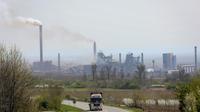 Une usine de charbon, très polluante, en Serbie