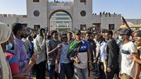 Manifestations devant le quartier général de l'armée à Khartoum