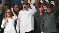 Nicolas Maduro lors d'une commémoration militaire