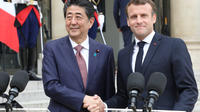 Emmanuel Macron avait déjà rencontré Shinzo Abe en avril à Paris