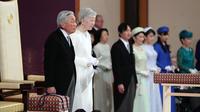 L'actuel empereur lors de la cérémonie d'abdication