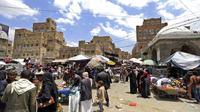 Le marché de la vieille ville de Sanaa, au Yémen, se prépare pour le Ramadan.