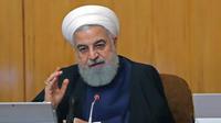 Hassan Rohani, président de l'Iran, qui a décidé de suspendre certains de ses engagements sur le nucléaire.