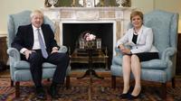 Le Premier ministre du Royaume-Uni Boris Johnson a rendu visite à son homologue écossaise Nicola Sturgeon à Edimbourg lundi 29 juillet.