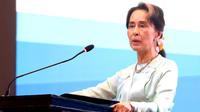 La dirigeante birmane veut défendre «l'intérêt national» de son pays.