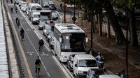54 % des Parisiens utilisent leur voiture qu'une à trois fois par mois maximum.