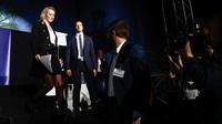 Marion Maréchal après son discours, samedi 28 septembre, à la «Convention de la droite».
