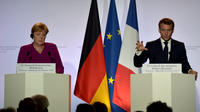 Angela Merkel et Emmanuel Macron, le 16 octobre à Toulouse.