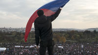 250 000 Tchèques ont manifesté à Prague samedi.