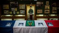 Les portraits des quatre soldats du 4ème régiment de Gap lors d'un hommage