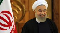 Hassan Rohani salue l'entrée en vigueur de l'accord, ce dimanche 17 janvier à Téhéran.