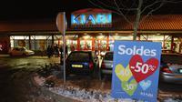 Vue extérieure prise le 8 janvier 2003 du magasin de vêtements Kiabi de la zone industrielle Paris-Nord II à Gonesse [Jack Guez / AFP/Archives]