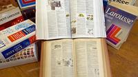 Plusieurs éditions du Petit Larousse [Stephane de Sakutin / AFP/Archives]