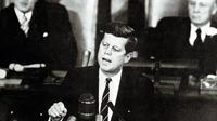 Le président John F. Kennedy devant le Congrès, le 25 mai 1961 à Washington [- / JFK Library/AFP/Archives]