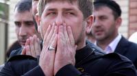 Le président tchétchène Ramzan Kadyrov à Grozny, le 1er mai 2012 [ / AFP/Archives]