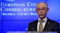 Le président du Conseil européen, Herman Van Rompuy, le 15 mars 2013 à Bruxelles [Georges Gobet / AFP/Archives]