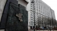 Un monument représentant le ghetto de Varsovie sur une carte de la ville, le 11 avril 2013 à Varsovie [Janek Skarzynski / AFP/Archives]