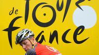 Lance Armstrong lors d'une étape pendant son dernier Tour de France, le 9 juillet 2010 à Montargis. [Pascal Pavani / AFP/Archives]
