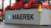 Un container de la société Maersk [Patrik Stollarz / AFP/Archives]