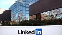 Le logo du réseau social LinkedIn [Justin Sullivan / AFP/Getty Images/Archives]