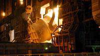 Dans une acierie japonaise à Kimitsu [ / Jiji Press/AFP/Archives]