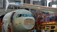 Des Airbus A320 dans  l'usine d'assemblage de Tianjin au nord est de la Chine, le 13 juin 2012 [Mark Ralston / AFP/Archives]