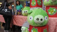 Des peluches Bad Piggies, le 27 septembre 2012 à Taipei [Sam Yeh / AFP]