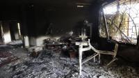 L'intérieur du consulat américain à Benghazi, détruit lors d'une attaque, le 13 septembre 2012 en Libye [Gianluigi Guercia / AFP/Archives]
