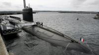 """Le sous-marin nucléaire lanceur d'engin """"Le Vigilant"""" sur la base de L'Ile Longue, le 13 juillet 2007 [Francois Mori / Pool/AFP/Archives]"""