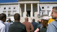 Un rassemblement devant le tribunal de Pau en 2005 [Jean-Louis Duzert / AFP/Archives]