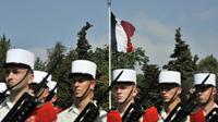 Des soldats de la Légion étrangère défilent le jour anniversaire de la bataille de Camerone, le 30 avril 2011, à Aubagne, dans le sud de la France [Boris Horvat / AFP/Archives]